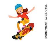 happy smiling teen boy in... | Shutterstock .eps vector #627370556