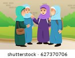 a vector illustration of muslim ... | Shutterstock .eps vector #627370706