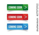 coming soon button vector | Shutterstock .eps vector #627371912