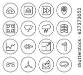 set of 16 arrow outline icons... | Shutterstock .eps vector #627373052