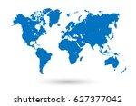 blue world map | Shutterstock .eps vector #627377042