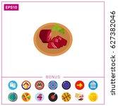 basturma food icon | Shutterstock .eps vector #627382046