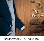 flat lay casual clothes set of... | Shutterstock . vector #627387452