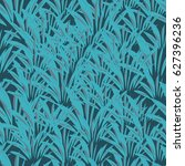floral seamless pattern. exotic ... | Shutterstock .eps vector #627396236