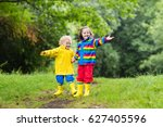 little boy and girl play in... | Shutterstock . vector #627405596