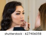 makeup session with a beautiful ... | Shutterstock . vector #627406058