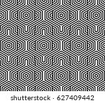 seamless pattern with black... | Shutterstock .eps vector #627409442