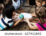 school student tour is a good... | Shutterstock . vector #627411842