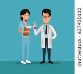couple people medical staff... | Shutterstock .eps vector #627430112
