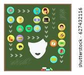 women's thoughts in my head.... | Shutterstock .eps vector #627432116