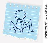doodle spaceship | Shutterstock .eps vector #627436166