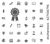 award icon on the white... | Shutterstock .eps vector #627436796