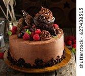 Chocolate Cake With Ganache...