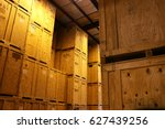 large warehouse of big wood... | Shutterstock . vector #627439256