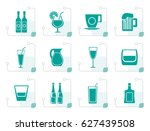 stylized different kind of... | Shutterstock .eps vector #627439508