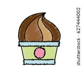 sweet cupcake icon | Shutterstock .eps vector #627444002