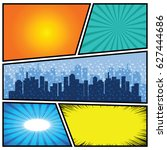 comics template. vector comic... | Shutterstock .eps vector #627444686