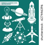 science icon set clean vector | Shutterstock .eps vector #627446396