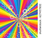 Rays Rainbow Striped Pattern...
