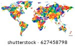 abstract continents world map... | Shutterstock .eps vector #627458798