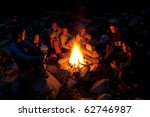 group of backpackers relaxing... | Shutterstock . vector #62746987