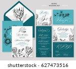 template rustic wedding... | Shutterstock .eps vector #627473516
