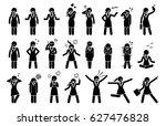 businesswoman feelings and... | Shutterstock . vector #627476828