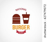 national burger day vector... | Shutterstock .eps vector #627479072