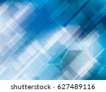 abstract technology blue... | Shutterstock .eps vector #627489116