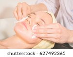 cosmetic injection in the spa... | Shutterstock . vector #627492365