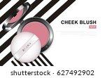 modern cheek blush or makeup... | Shutterstock .eps vector #627492902