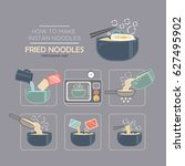 cooking instruction icon set ... | Shutterstock .eps vector #627495902