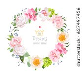 peony  wild rose  orchid ...   Shutterstock .eps vector #627497456