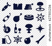 explosion icons set. set of 16...   Shutterstock .eps vector #627501236