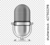 realistic retro microphone ... | Shutterstock .eps vector #627502298