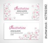 flower wedding paper invitation ... | Shutterstock .eps vector #627502382