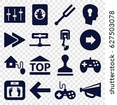 control icons set. set of 16... | Shutterstock .eps vector #627503078