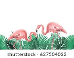 tropical greenery rain forest... | Shutterstock .eps vector #627504032
