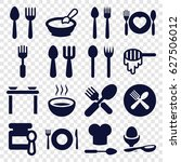 spoon icons set. set of 16... | Shutterstock .eps vector #627506012