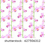 floral seamless pattern with... | Shutterstock .eps vector #627506312