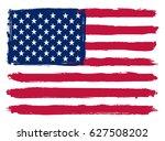 grunge american flag.vector... | Shutterstock .eps vector #627508202
