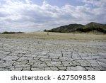 mud volcano park  romania  berca | Shutterstock . vector #627509858