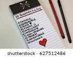 qualities found in a perfect... | Shutterstock . vector #627512486