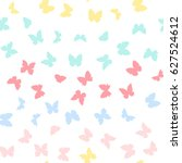 rainbow butterflies waves... | Shutterstock .eps vector #627524612