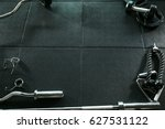 gym equipment background   Shutterstock . vector #627531122