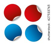 set of red and blue banners.... | Shutterstock .eps vector #627533765