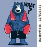 boxer bear player comic vector...