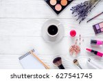 make up set with decorative... | Shutterstock . vector #627541745