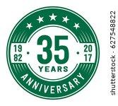 35 years anniversary logo... | Shutterstock .eps vector #627548822