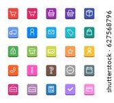 shopping icons set   Shutterstock .eps vector #627568796